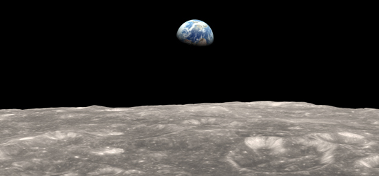 The Earth viewed from the Moon