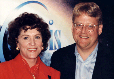 Majel Roddenberry with Celestis, CEO Charles Chafer