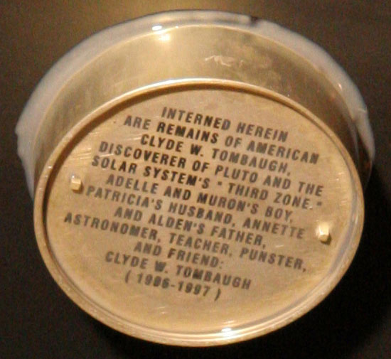 New Horizons cremated remains container