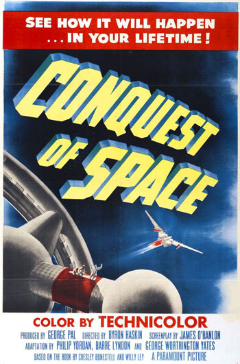Movie poster for George Pal's Conquest of Space (1955).
