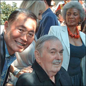 George Takei, James Doohan, Nichelle Nichols