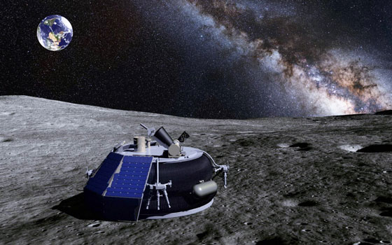 MoonEx lunar lander on the Moon